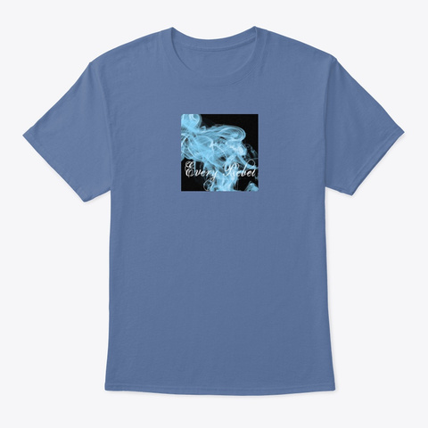 When The Smoke Clears Denim Blue T-Shirt Front
