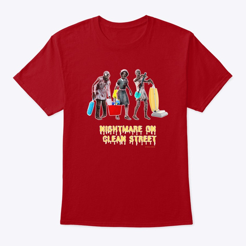 Nightmare On Clean Street Deep Red T-Shirt Front