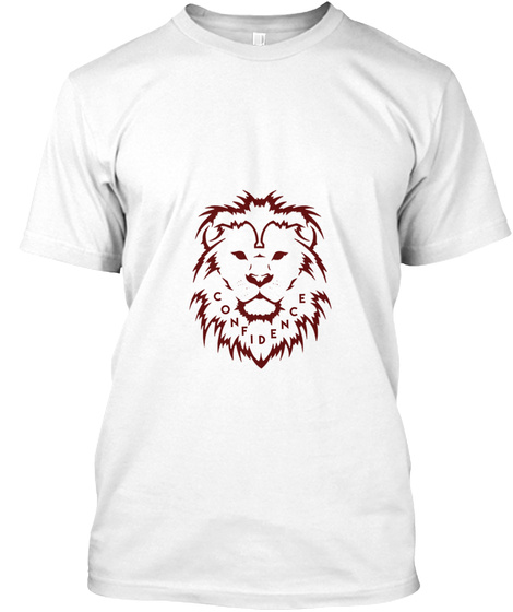 Confidence White T-Shirt Front