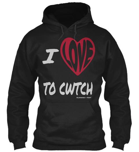 I To Cwtch Alexander & Kent Black T-Shirt Front