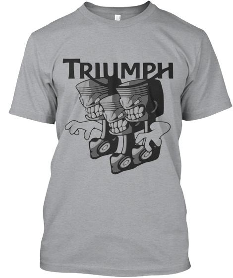 Triumph Heather Grey T-Shirt Front