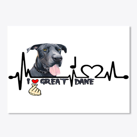 Great Dane20 White T-Shirt Front