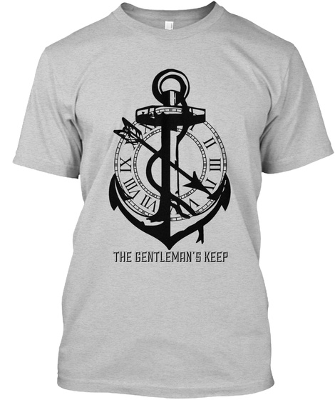 The Gentleman's Keep Light Steel T-Shirt Front