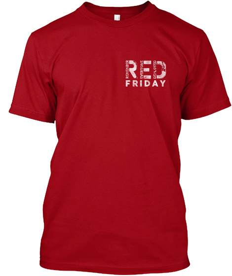 Red Friday Deep Red T-Shirt Front