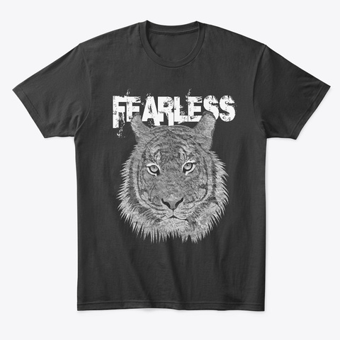 Fearless Tiger Black T-Shirt Front