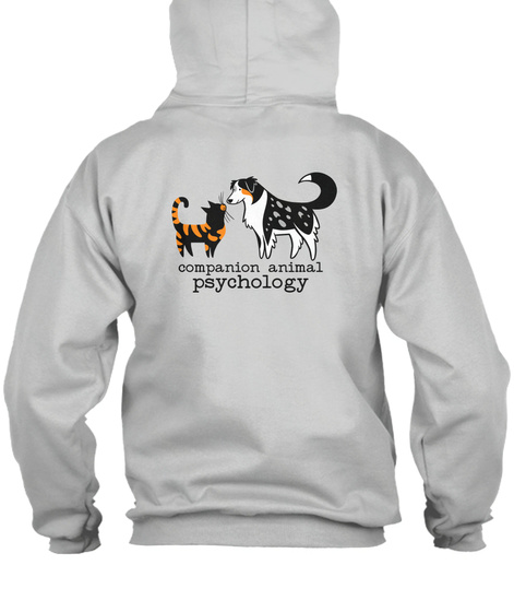 Companion Animal Psychology Zip Hoodie Ash Sweatshirt Back
