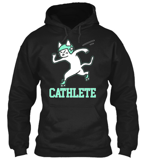 Cathlete Black T-Shirt Front