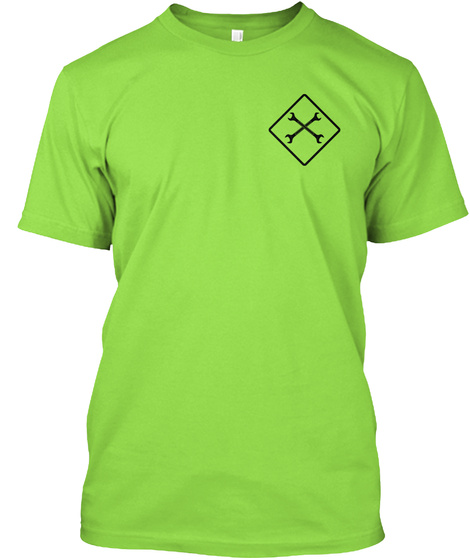 Tower Climber Safety Lime T-Shirt Front