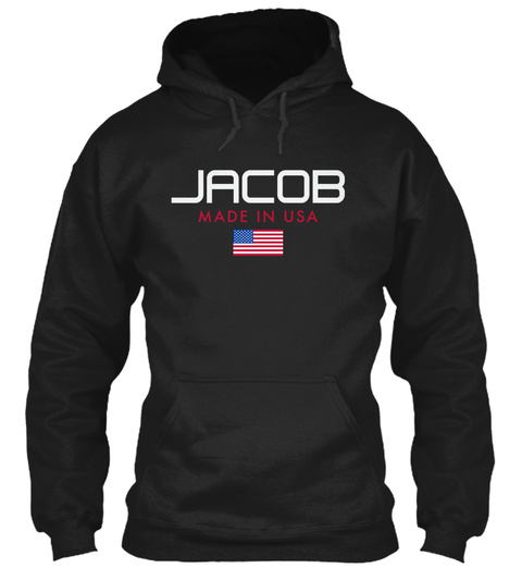 Jacob Made In Usa Black T-Shirt Front
