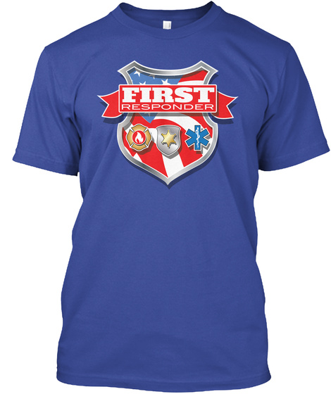 First Responder Deep Royal T-Shirt Front