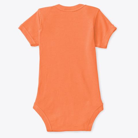 Cute Dracula   Halloween Spooky Orange T-Shirt Back