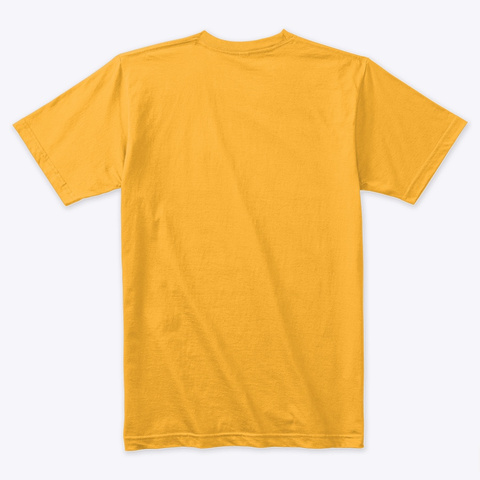 Space Leo Art Merchandise Gold T-Shirt Back
