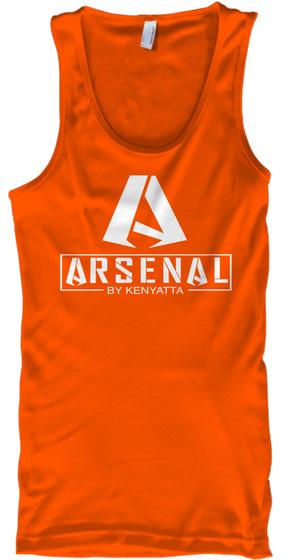 Arsenal By Kenyatta Orange T-Shirt Front
