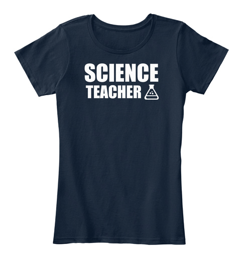 Science Teacher New Navy T-Shirt Front