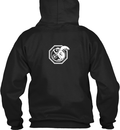 Atheism Is Unstoppable Hoodie Black T-Shirt Back