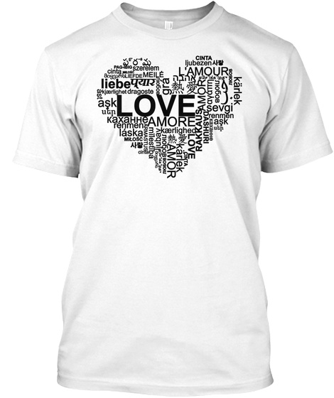 Liebe Love Amor White T-Shirt Front