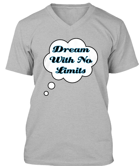 Dream With No Limits Athletic Heather T-Shirt Front