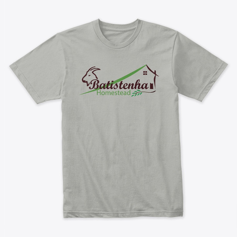 Batistenha Logo Light Grey T-Shirt Front