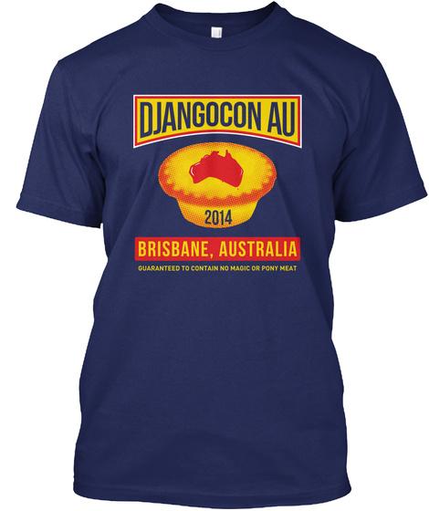Django Con Au 2014 Navy T-Shirt Front