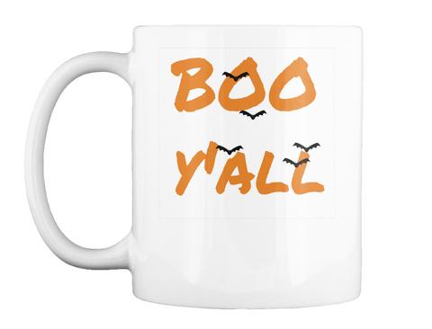 Boo Y'all Halloween Mug White Mug Front