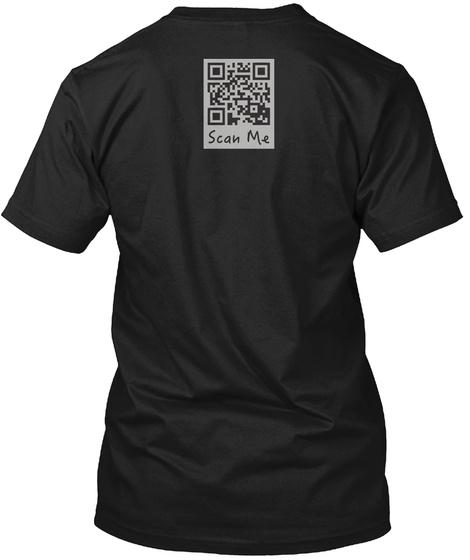 Scan Me Black T-Shirt Back