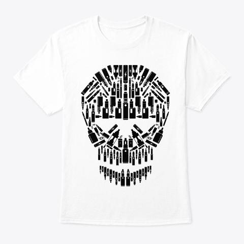 Skull Vape Accessoires | Vaper Vaping White T-Shirt Front