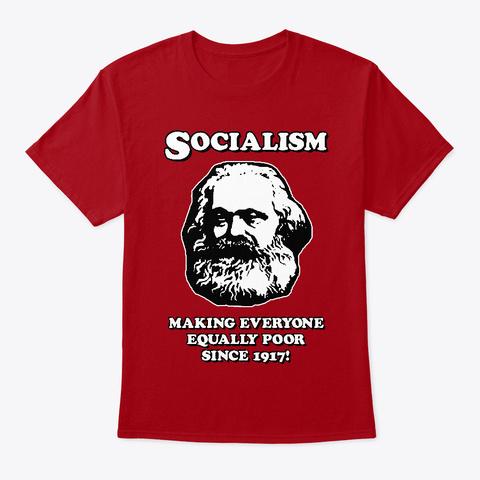Socialism Deep Red T-Shirt Front