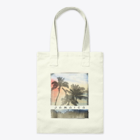 Jamaica Palm Tree Sunset Souvenir Natural T-Shirt Front