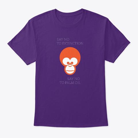 Save Orangutan Purple T-Shirt Front