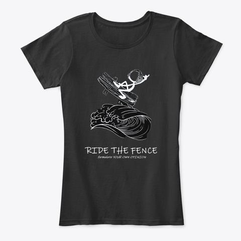 Ride The Fence Official (Inverted) Black Camiseta Front