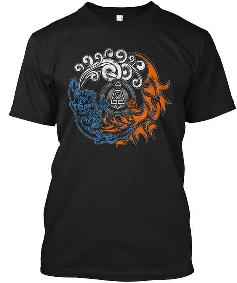 4 Elements  Black T-Shirt Front