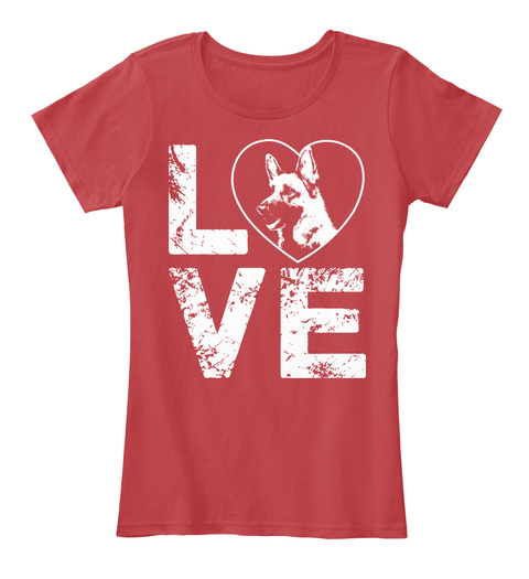Love  Classic Red T-Shirt Front
