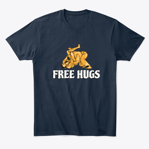 Free Hugs Gift New Navy T-Shirt Front