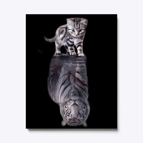 Kitty : Tiger Canvas | Teespring Black T-Shirt Front