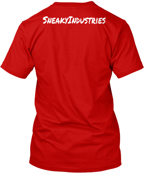 Sneaky Industries Classic Red T-Shirt Back