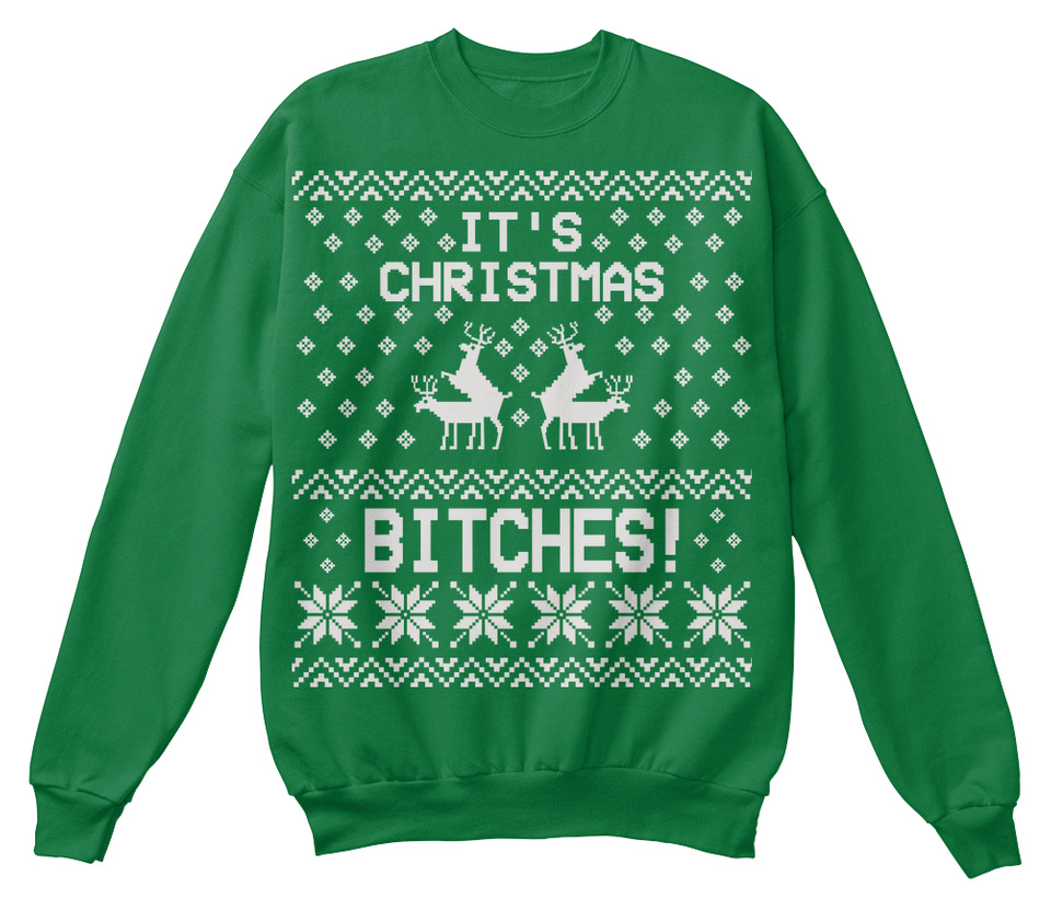 Merry Christmas Bitches Sweatshirt Xmas Ugly Sweater Humping Reindeer Funny