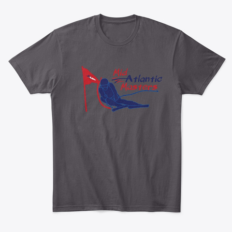 Mid Atlantic Masters Heathered Charcoal  T-Shirt Front