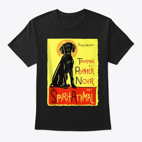 Cute Vorstehhund Dog Art German Pointer  Black T-Shirt Front