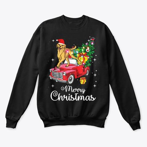 Labrador Retriever Christmas Sweater Black T-Shirt Front