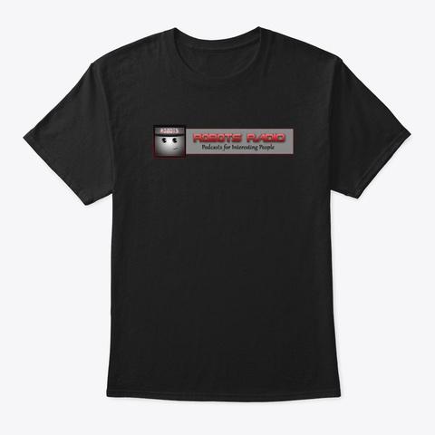Robots Radio Logo Black T-Shirt Front