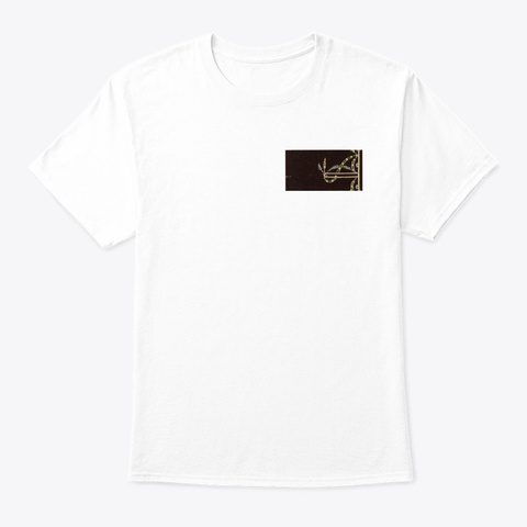 French Embroidery  White T-Shirt Front