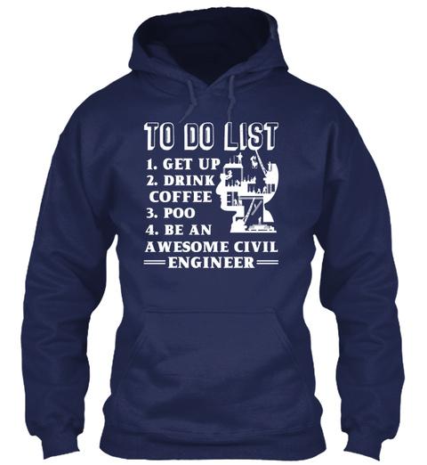 Awesome Civil Engineer Shirt Navy Sweatshirt Front