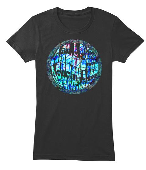Atlas And The Astronaut   Megatropolis Black T-Shirt Front