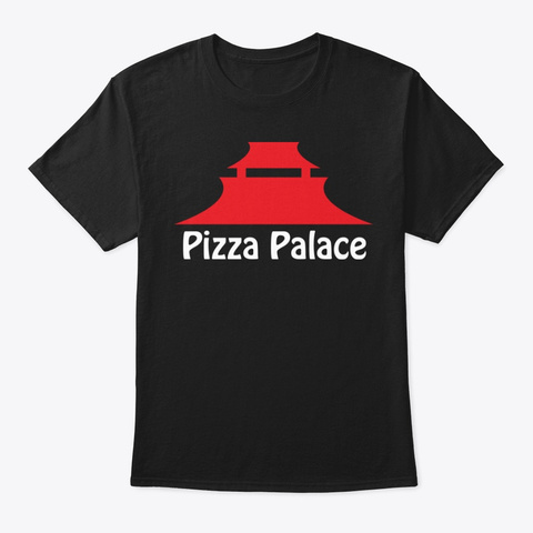 Pizza Palace Black T-Shirt Front
