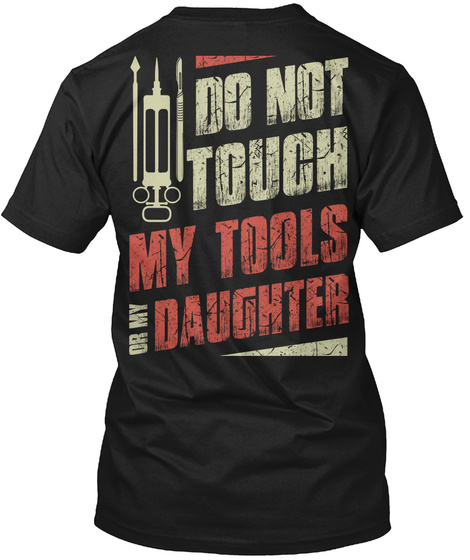 Do Not Touch   Doctor T Shirts Black T-Shirt Back