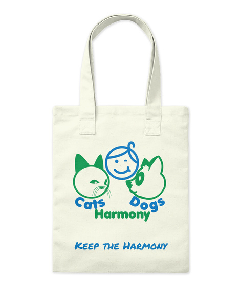 Keep The Harmony Natural Tote Bag Front