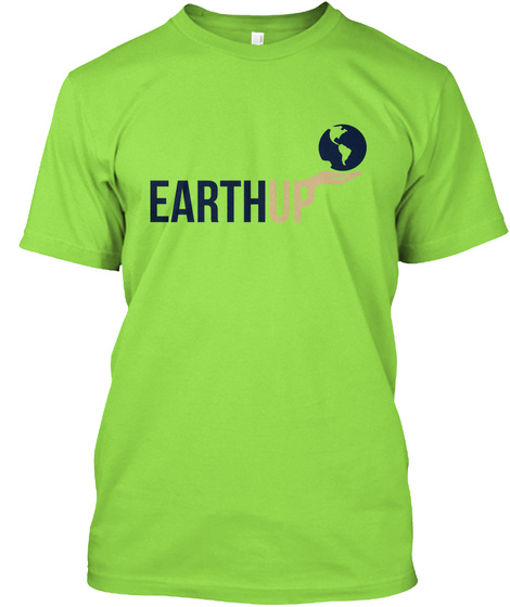 Earthup Lime T-Shirt Front