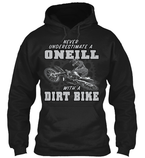 Oneill With A Dirt Bike Black T-Shirt Front