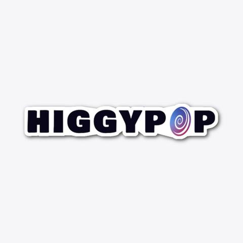 Higgypop Logo Sticker Standard T-Shirt Front