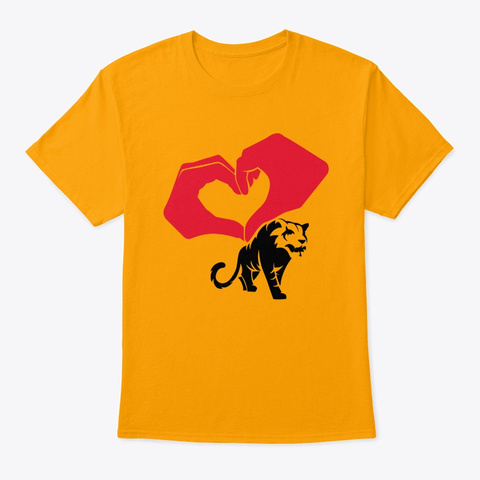 Tiger Design Gold T-Shirt Front